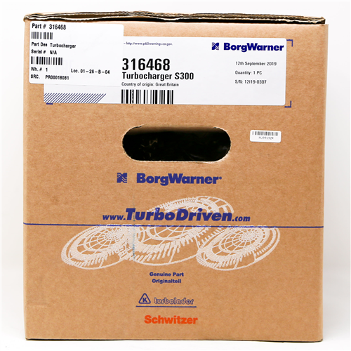316468_BORGWARNER Turbocharger