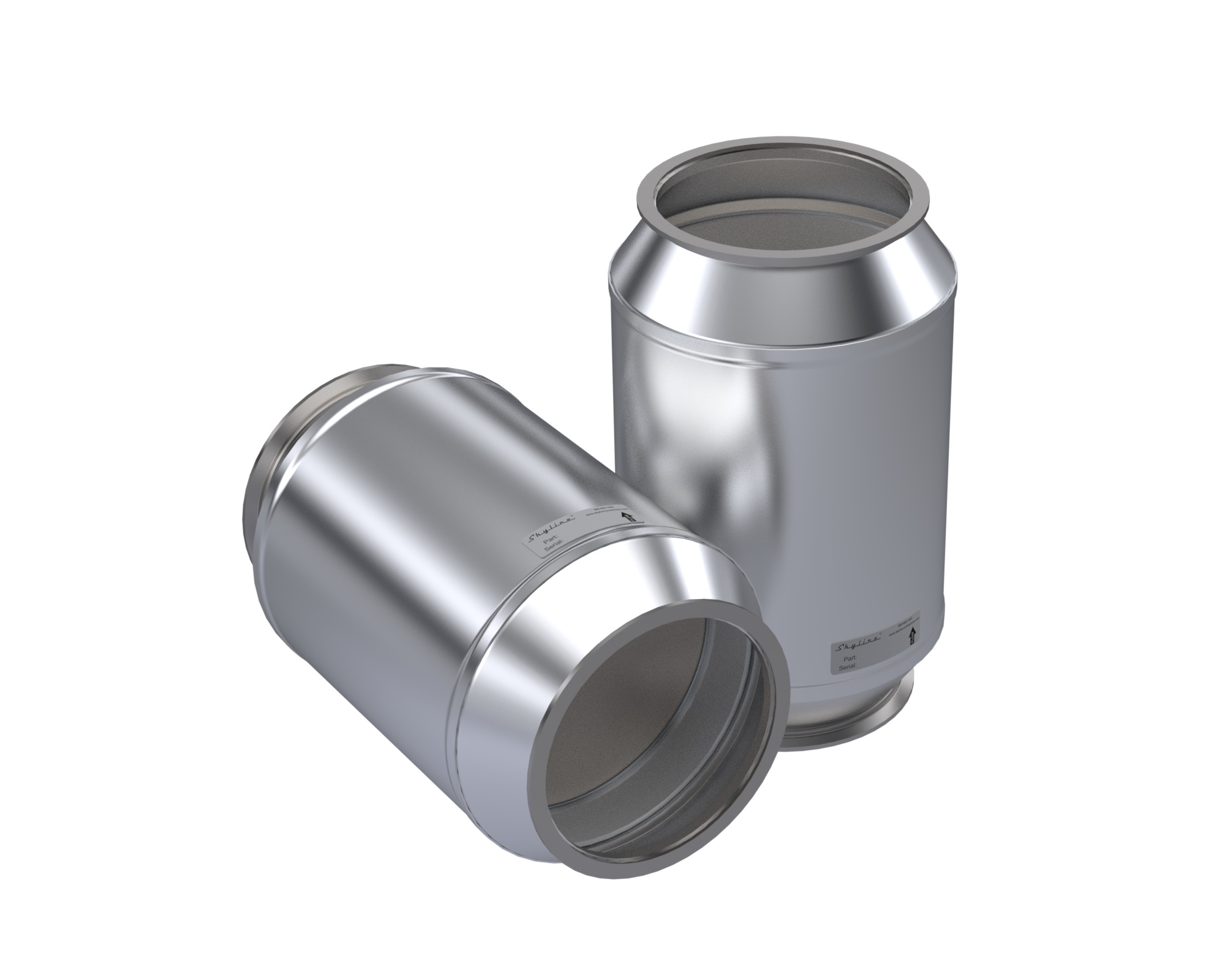 MJ0820-C_Skyline Diesel Particulate Filter (DPF). Includes Gasket and Clamp