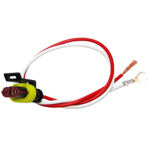 A42PMB_OPTRONICS A42PMB Weathertight 2-Wire Pigtail 10 in. Leads 0.21 in. ID Eyelet on Ground Plug to Bare Wire