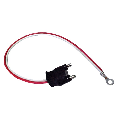 A45CB_OPTRONICS A45CB Straight 2-Wire Pigtail with 2-Pin PL-3 Male Plug 10 in.