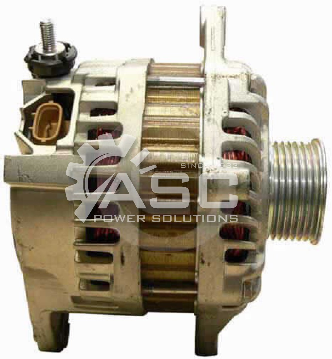 A481498_ASC, Alternator, 12V, 130 Amp, IR, IF, CW, 55MM, Mitsubishi, Reman
