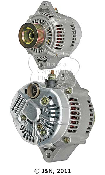 A521136N_ASC, Alternator, 12V, 140 Amp, IR, IF, CW, S8, 62MM, DENSO, New