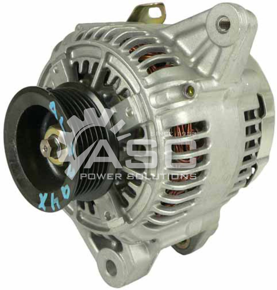 A521370_ASC, Alternator, 12V, 100 Amp, IR, IF, CW, S6, 57MM, DENSO, Reman