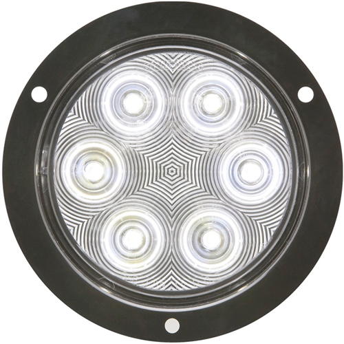 BUL06CFB_OPTRONICS BUL06CFB Clear Back-Up Light Recess Flange Mount Standard 2-Pin Connection