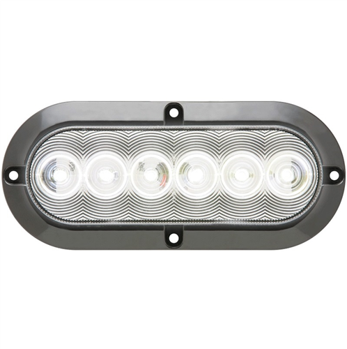 BUL12CFB_OPTRONICS BUL12CFB Clear Back-Up Light Recess Flange Mount Standard 2-Pin Connection 12v