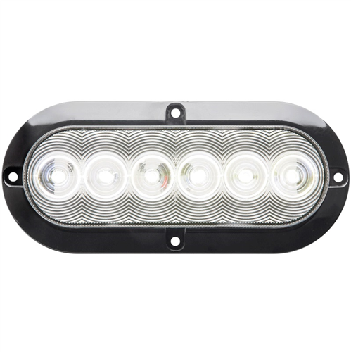 BUL12CSB_OPTRONICS BUL12CSB Clear Back-Up Light Surface Flange Mount Hard Wired 12v