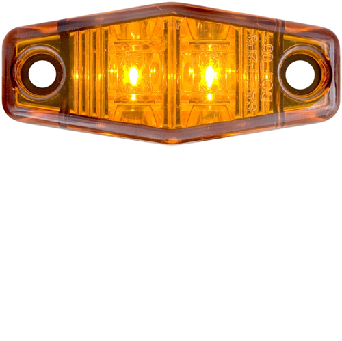 MCL131A210B_OPTRONICS MCL131A210B Yellow Marker Clearance Light Single Wire Self Grounding Mount with #10 Screws