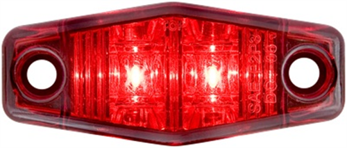 MCL131R2B_OPTRONICS MCL131R2B Red Marker Clearance Light Single Wire Self Grounding