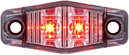 MCL131RC210B_OPTRONICS Clear Lens Red Marker Clearance Light Single Wire Self Grounding Mount with #10 Screws