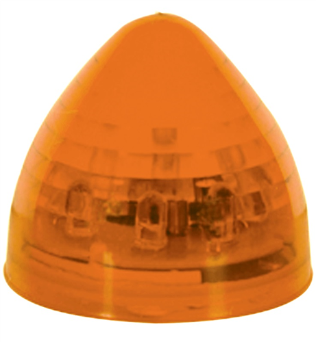 MCL21AB_OPTRONICS Yellow 2 in. Beehive Marker Clearance Light