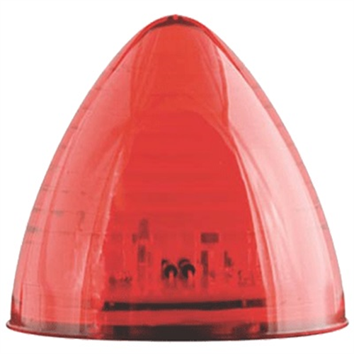 MCL23RB_OPTRONICS Red 2.5 in. Beehive Marker Clearance Light