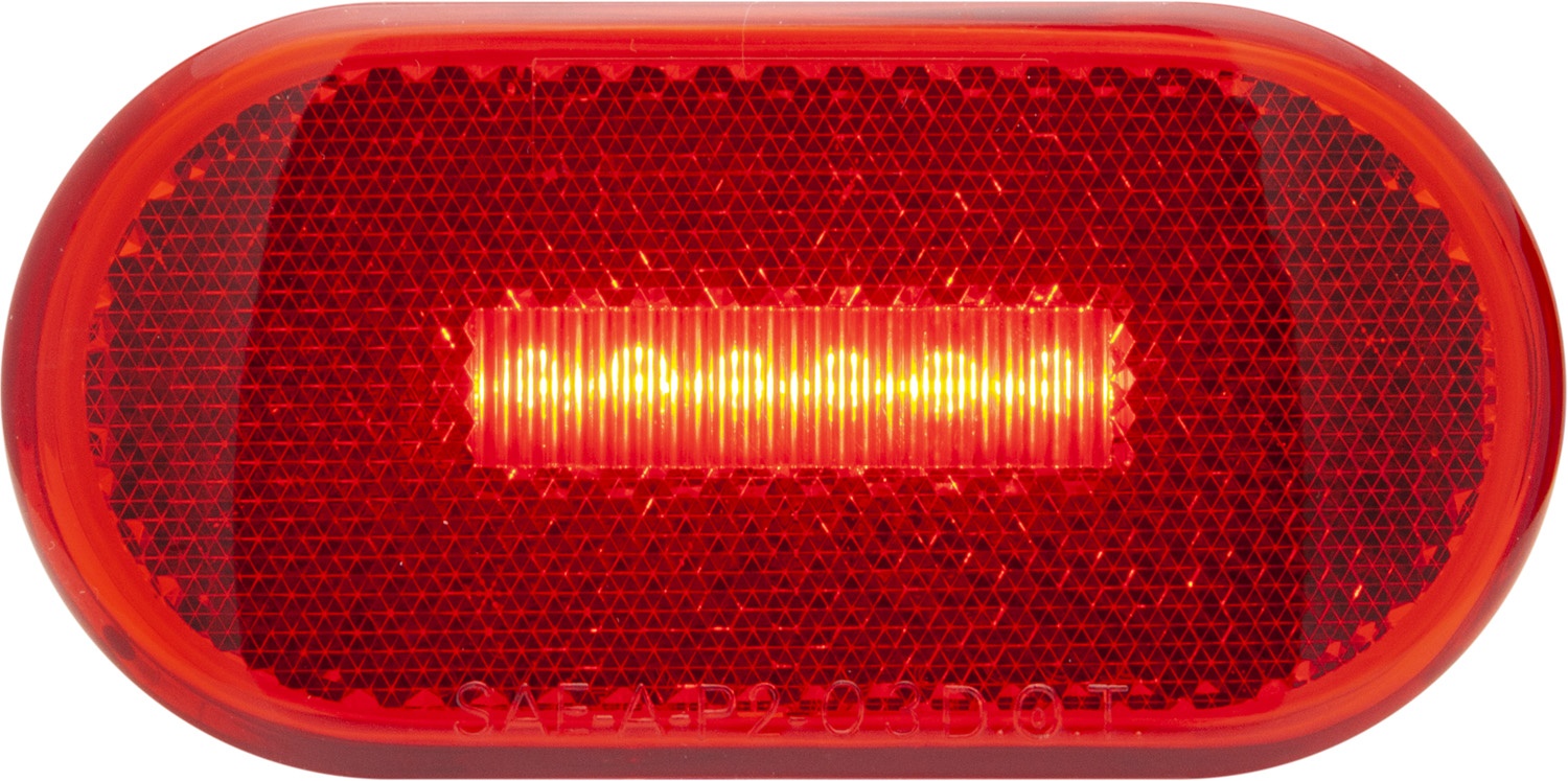 MCL31RB_OPTRONICS MCL31RB Red Marker Clearance Light with Reflex