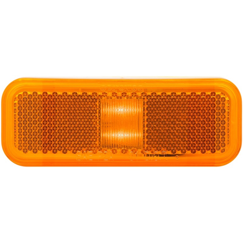 MCL44AB_OPTRONICS MCL44AB 6-LED Yellow Marker Clearance Light with Reflex 2-Wire