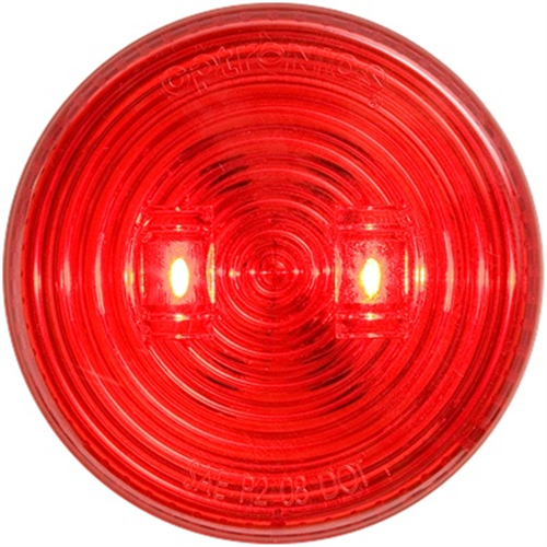 MCL527RMB_OPTRONICS MCL527RMB Red 2.5 in. Marker Clearance Light for Grommet Mount Weathertight Protection