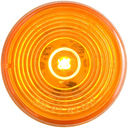 MCL56AMB_OPTRONICS MCL56AMB Yellow Marker Clearance Light for Grommet Mount Weathertight Connection