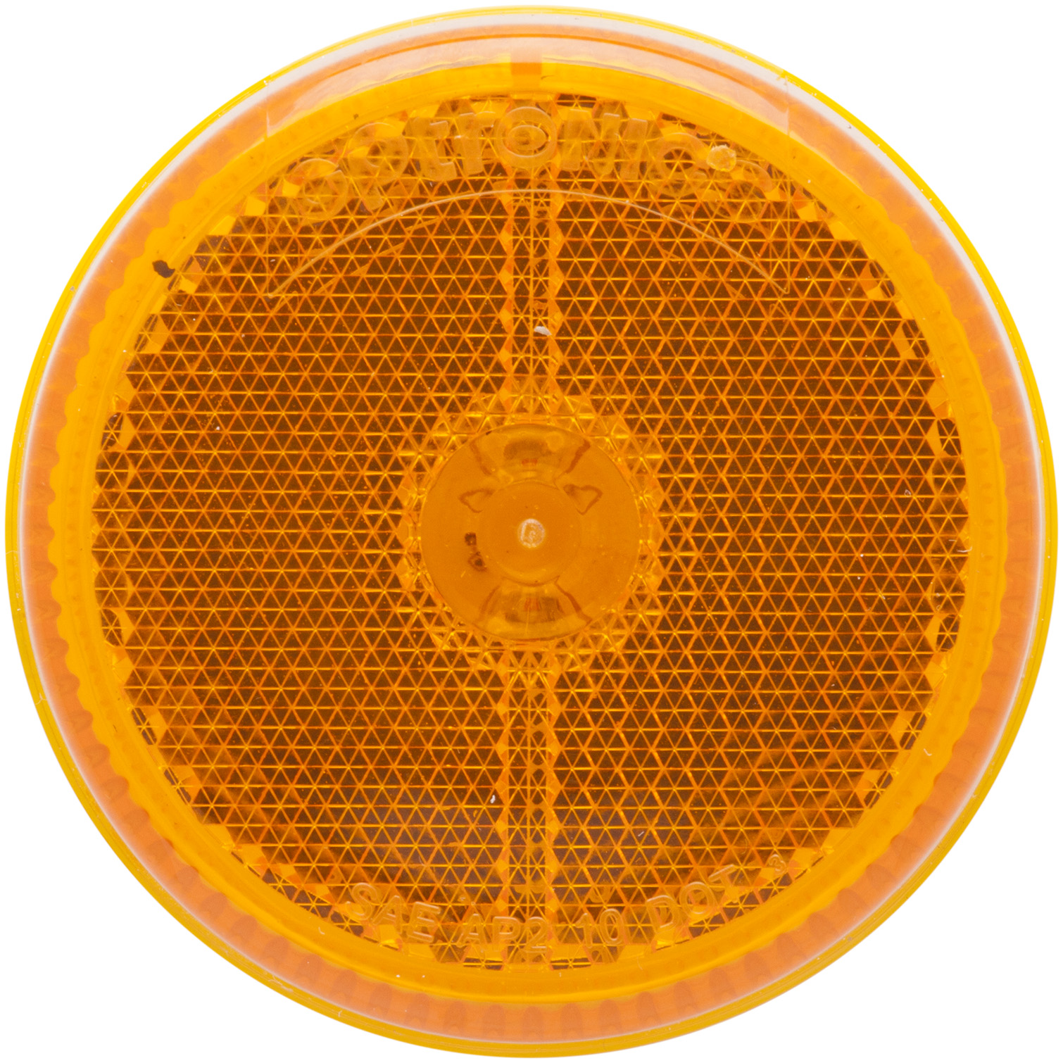 MCL59AB_OPTRONICS MCL59AB Yellow 2.5 in. Marker Clearance Light for Grommet Mount with Reflex