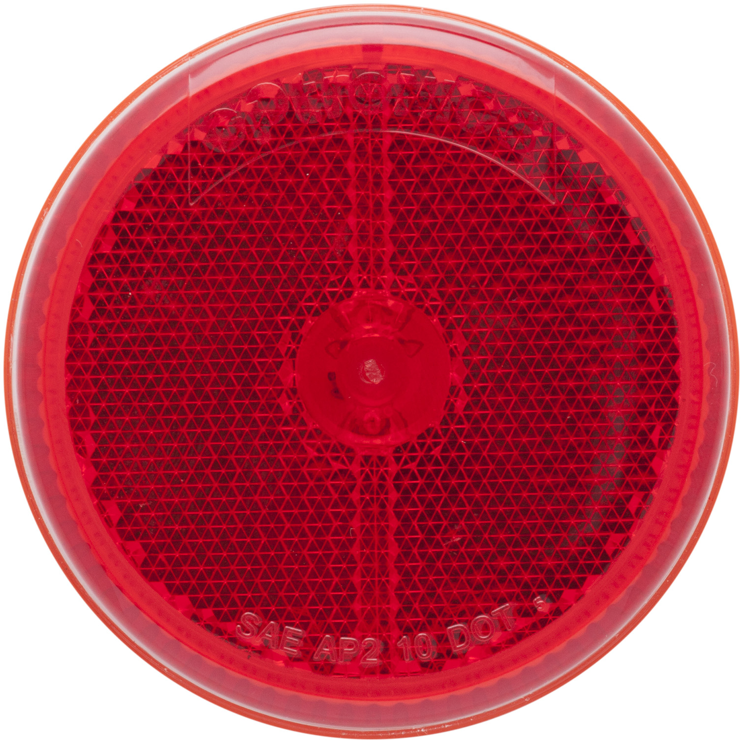 MCL59RB_OPTRONICS MCL59RB Red 2.5 in. Marker Clearance Light for Grommet Mount with Reflex