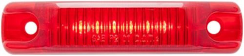 MCL66RPG_OPTRONICS MCL66RPG Red Marker Clearance Light .180 Male Bullets 12v