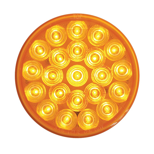 SLL43AB2_OPTRONICS SLL43AB2 Yellow 4 in. Round Warning Lamp 12-24v Function 2
