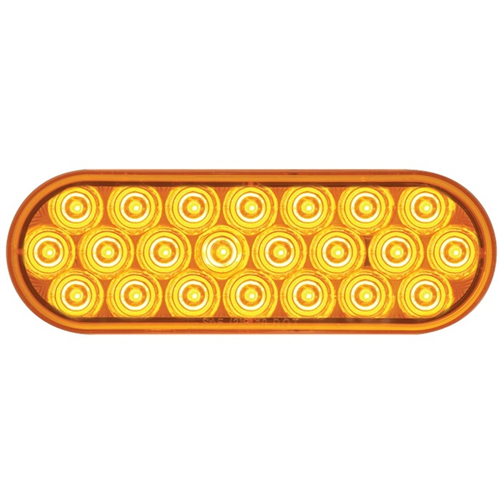 SLL72AB2_OPTRONICS SLL72AB2 Yellow 6 in. Oval Warning Lamp 12-24v Function 2