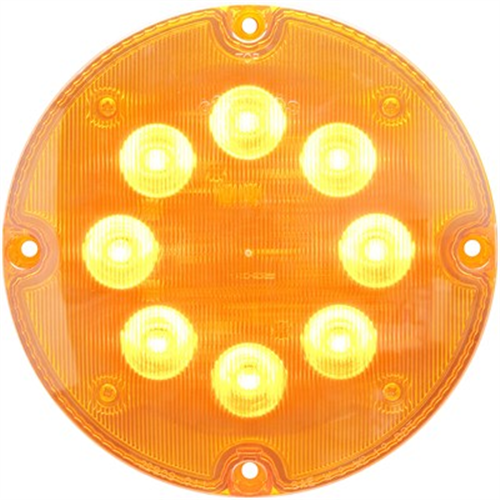 SLL93AB_OPTRONICS SLL93AB Yellow 7 in. Round Warning Lamp 12v