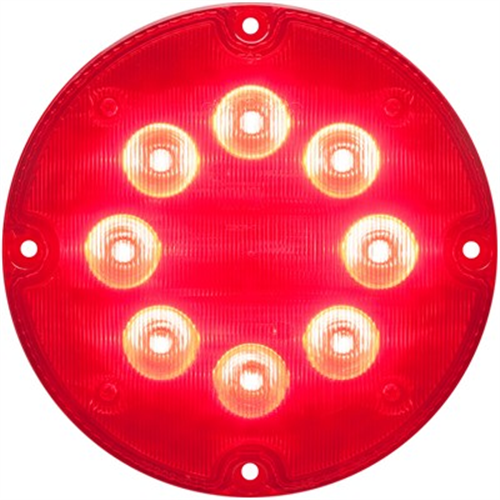 SLL93RB_OPTRONICS SLL93RB Red 7 in. Round Warning Lamp 12v