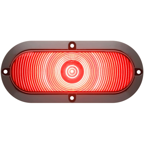 STL002RFB_OPTRONICS STL002RFB Surface Flange Mount Red Stop Turn Tail Light Hard Wired
