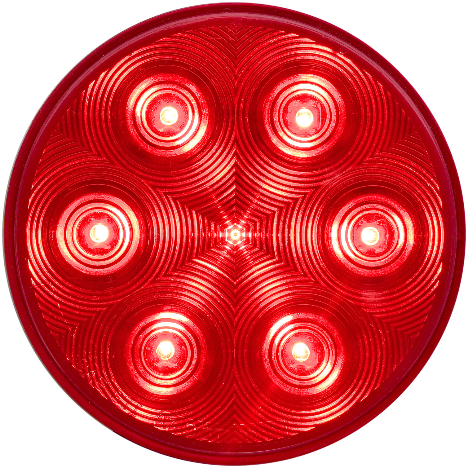 STL13RB_OPTRONICS STL13RB Red Stop Turn Tail Light PL-3 Connection
