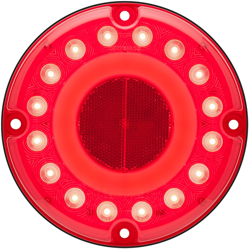 STL190RB_OPTRONICS STL190RB Red Stop Turn Tail Light with Built-in Reflex Gasket Installed Hard-Wired