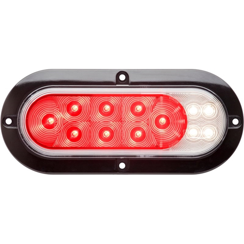 STL211XRFHB_OPTRONICS STL211XRFHB 6-in. Surface Mount Light with Red and Clear Lens Red and White LEDs