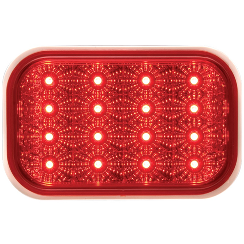 STL35RB_OPTRONICS STL35RB Red Stop Turn Tail Light PL-3 Connection