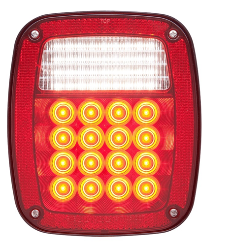 STL60RB_OPTRONICS STL60RB Combination Stop Turn Tail Back-Up Light Hard Wired Passenger Side