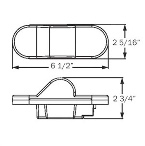 STL75AB_OPTRONICS STL75AB E2 Rated Side Turn Signal Marker Light Recess Mount PL-3 Connection