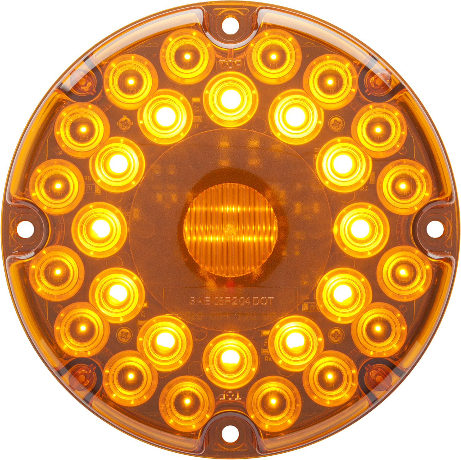 STL90AB_OPTRONICS STL90AB Yellow Parking Turn Signal Built-in Reflex Gasket Installed Hard-Wired 12v