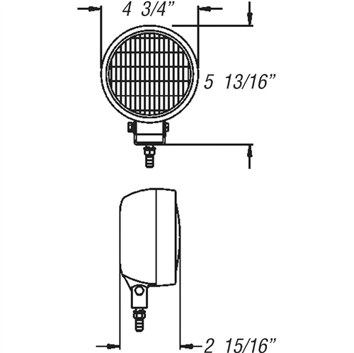 TL10CB_OPTRONICS TL10CB 35-Watt Post Mount Light with Rubber Housing 2-Wire 4411 Sealed Beam