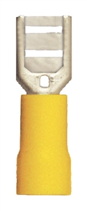 160446-025_Quick Cable 160446-025 12-10 Gauge PVC Solderless Female Disconnect Terminal Yellow .187 Package of 25