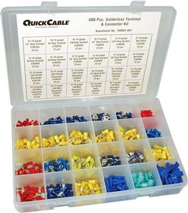 160901-001_Quick Cable 160901-001 PVC Solderless Terminal Kit 600 Pieces Package of 1