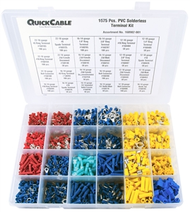 160902-001_Quick Cable 160902-001 PVC Solderless Terminal Kit 1675 Pieces Package of 1