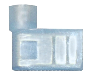 162265-1000_Quick Cable 162265-1000 16-14 Gauge Nylon Solderless Insulated Flag Terminal Blue .250 Package of 1000