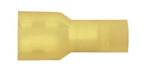 162458-100_Quick Cable 162458-100 12-10 Gauge Nylon Solderless Insulated Female Disconnect Yellow .250 Package of 100