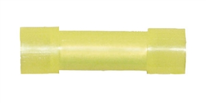 162480-2005_Quick Cable 162480-2005 12-10 Gauge Nylon Solderless Butt Connector Flared Ends Yellow Package of 5