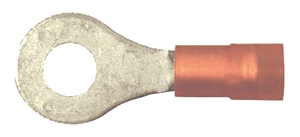 163102-025_Quick Cable 163102-025 22-18 Gauge Premium Nylon Ring Double Crimp Terminal Red #4-6 Hole Package of 25