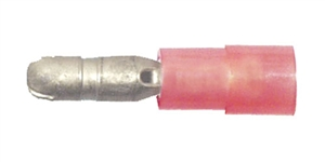 163170-025_Quick Cable 163170-025 22-18 Gauge Premium Nylon Insulated Male Bullet Red .157 Package of 25