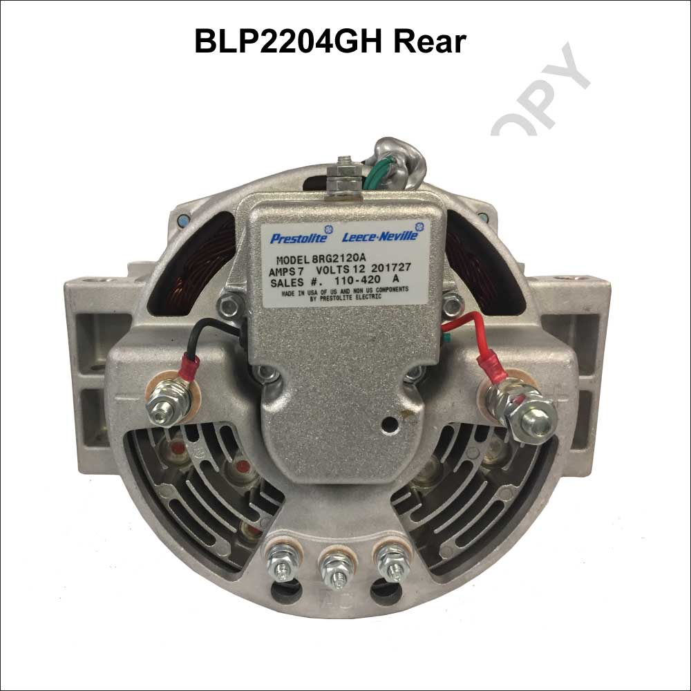 BLP2204GH_Prestolite Leece Neville New Alternator BLP Series Brushless Pad Mount type 12V 185A