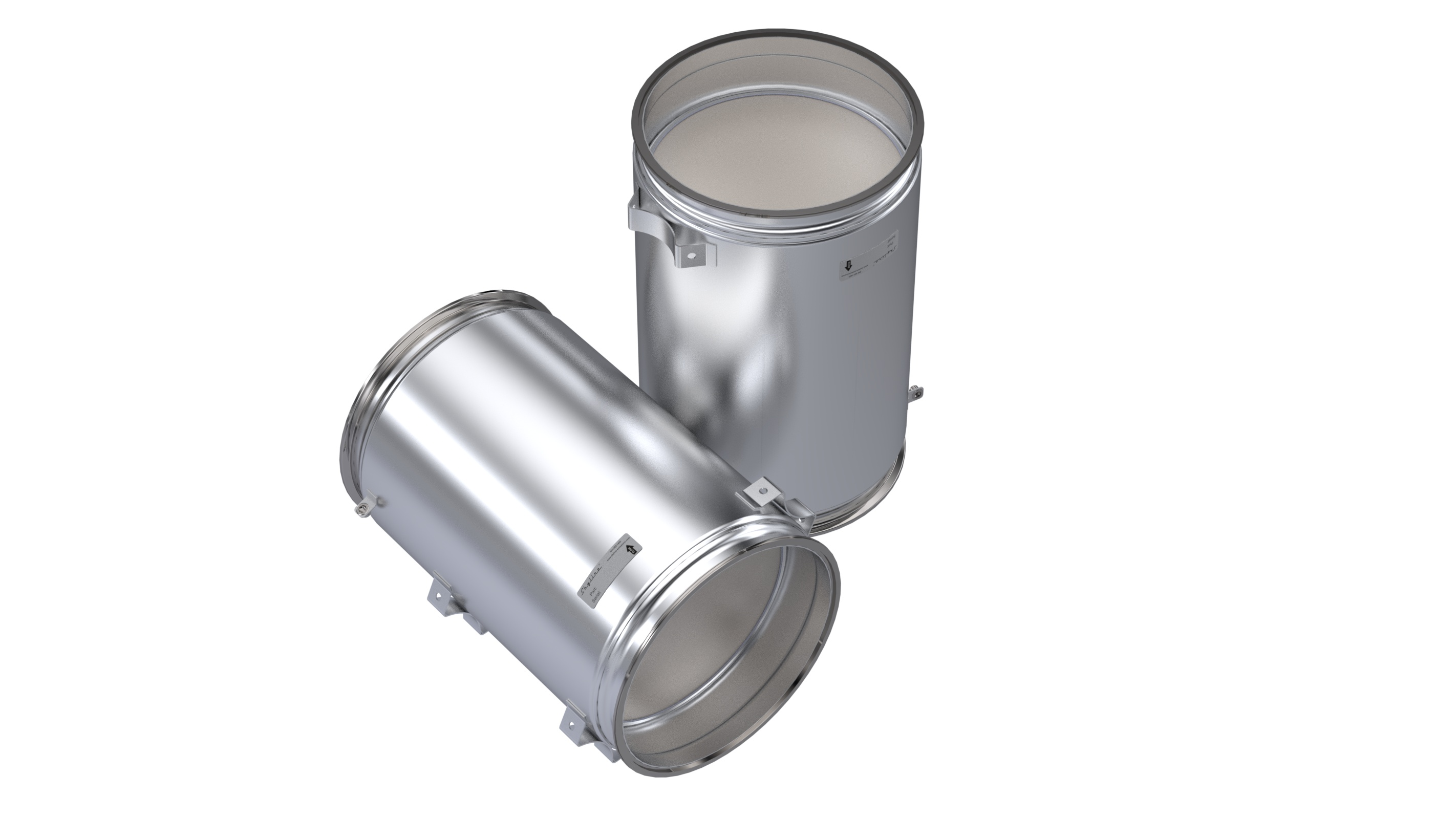 DQ1508-C_Skyline Diesel Particulate Filter DPF with Gasket and Clamp