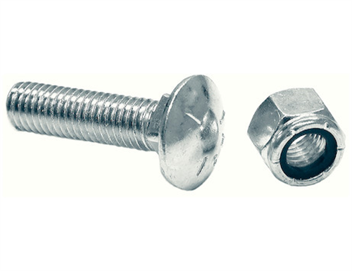 1301064_Buyers, Boss Cutting Edge 5/8 X 2 Inch Carriage Bolt And Nut - Set Of 10