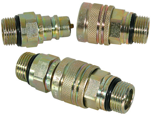 1304027_Buyers, Meyer Hydraulic Hose Male-Female Coupler Complete 3/4-16 Valve Block Side