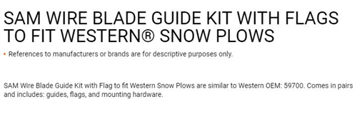 1308210_Buyers, Western 25in Plow Marker Kit