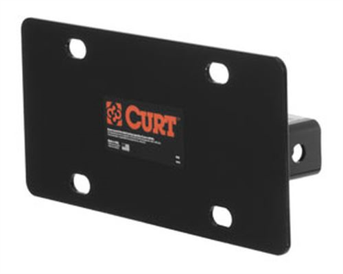 31002_CURT Hitch-Mounted License Plate Holder 31002
