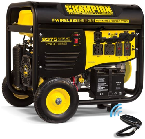 CP100161_CHAMPION 7500W Portable Generator with Electric Start